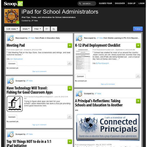 iPad Apps for School Administrators