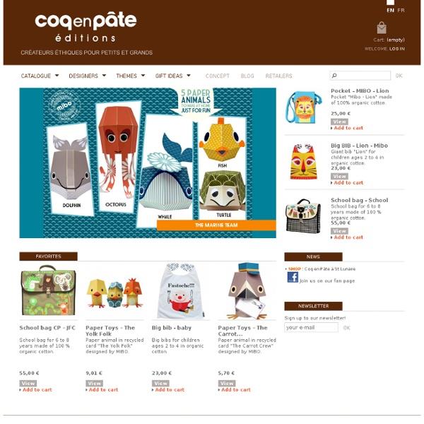 Cartables, sacs à dos, Tee-shirts enfant en Coton Biologique - Coq en Pâte