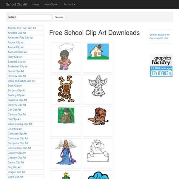 School Clip Art for Teachers and Kids - Free Clipart for