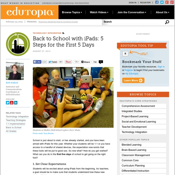 Back to School with iPads: 5 Steps for the First 5 Days