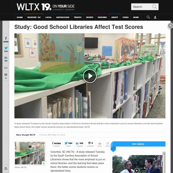 Study: Good School Libraries Affect Test Scores