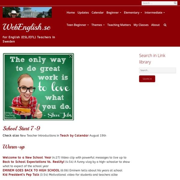 School Start 7-9 ⋆ WebEnglish.se