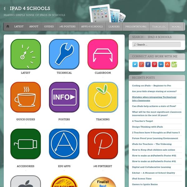 MAKING SIMPLE SENSE OF IPADS IN SCHOOLS