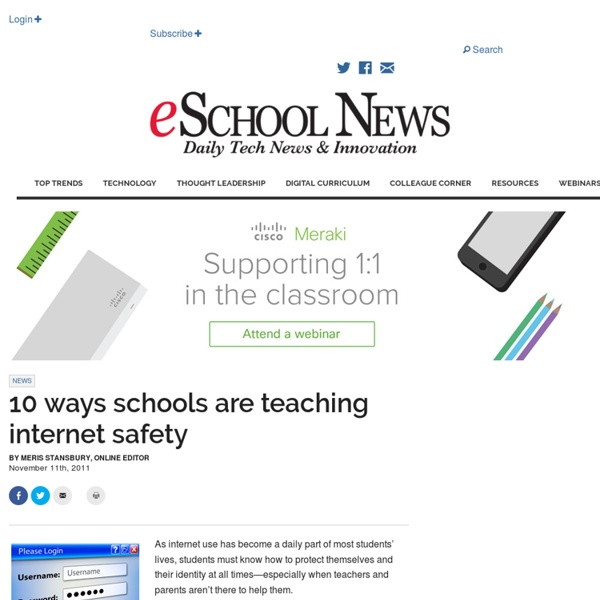10 ways schools are teaching internet safety