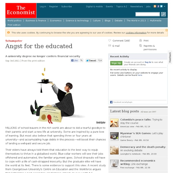 Schumpeter: Angst for the educated