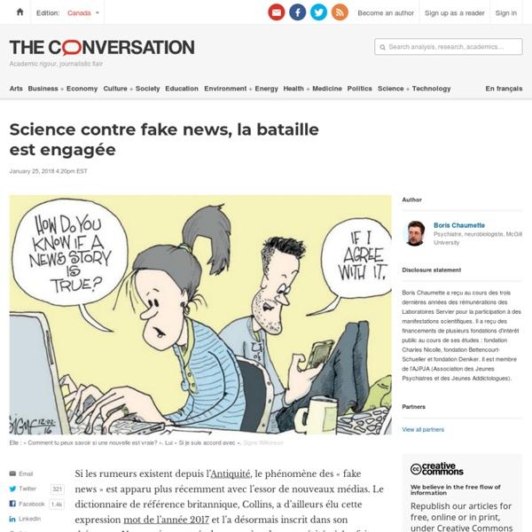 Science contre fake news, labataille est engagée