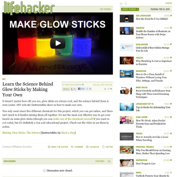 how to make your own glow sticks