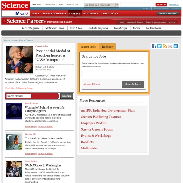 Science Careers, from the Journal Science - Biotech, Pharmaceutical, Faculty, Postdoc jobs on Science Careers