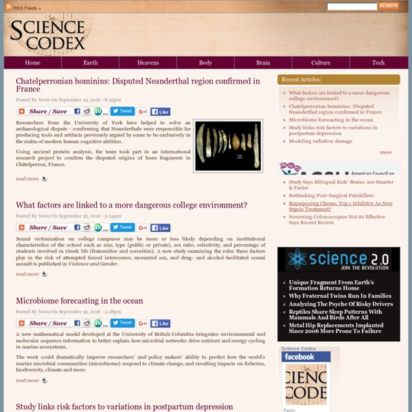 Science news, science articles, all day, every day