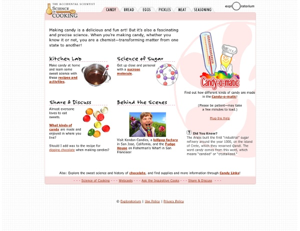 Science of Cooking: Candy Recipes, Factory Tour &More