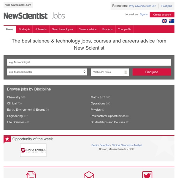 Science Jobs, Courses and Career Advice