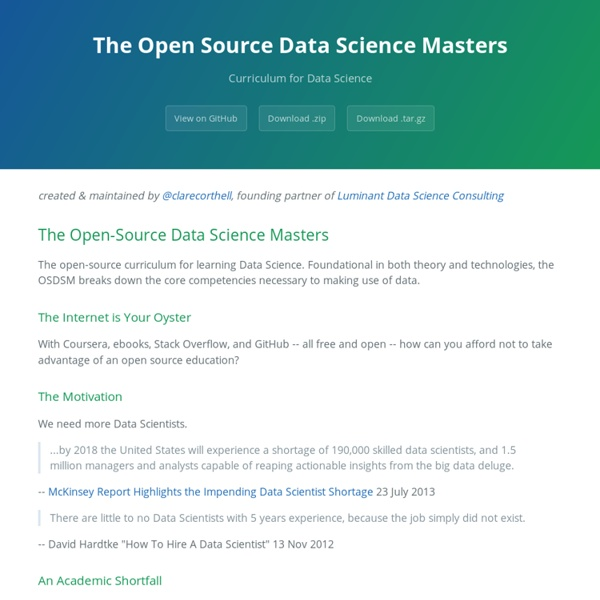 The Open Source Data Science Masters
