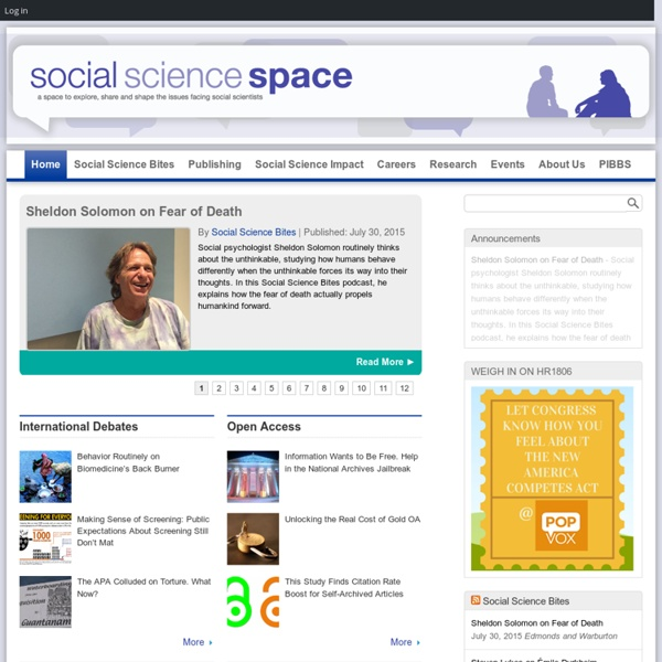 A space to explore, share and shape the issues facing social scientists