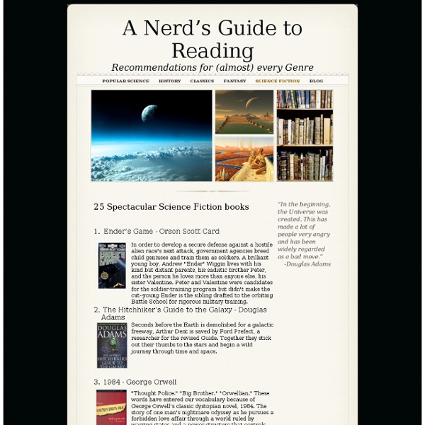 Science Fiction - A Nerd's Guide to Reading