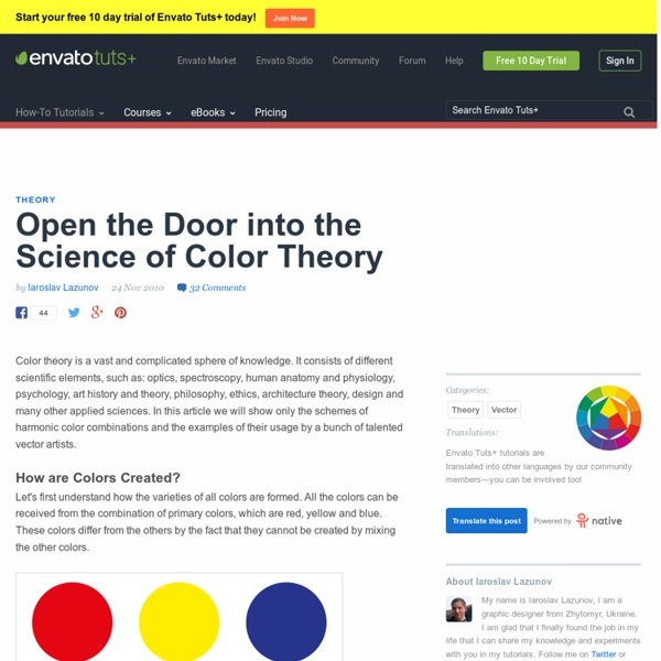 Open the Door into the Science of Color Theory