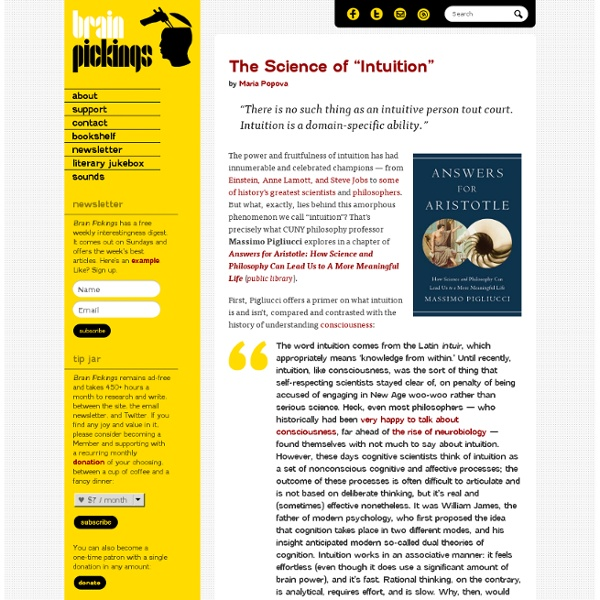 """The Science of """"Intuition"""""""