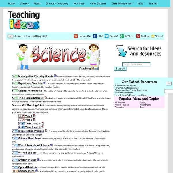 Science - General / Investigative Teaching Ideas