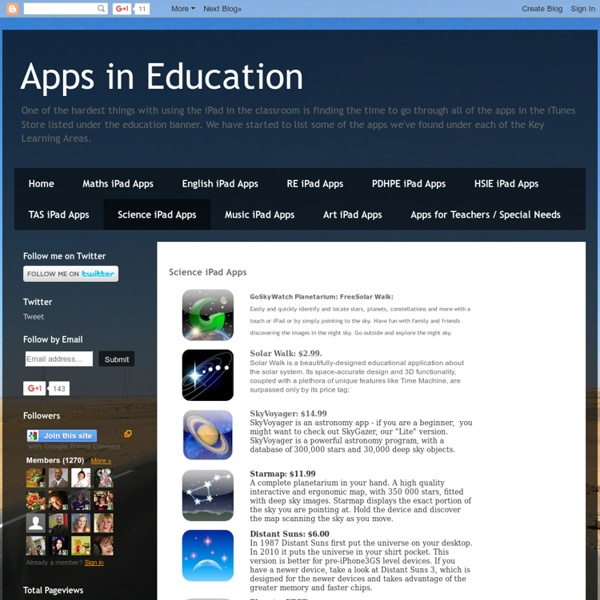 Science iPad Apps