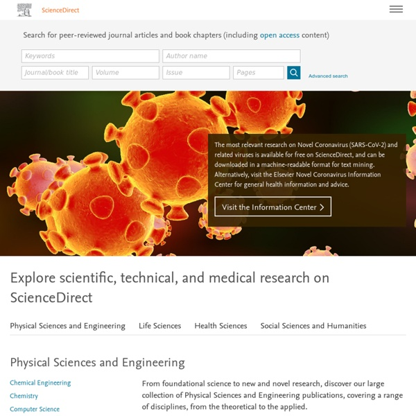 Science, health and medical journals, full text articles and books.