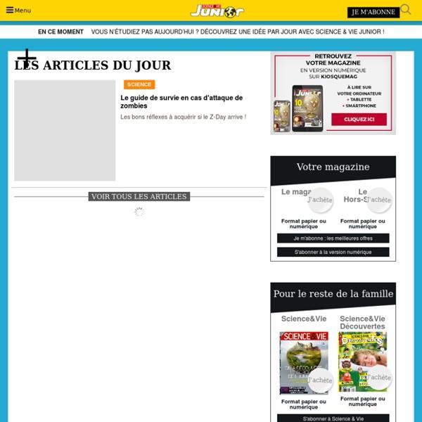 Science & Vie Junior : la magazine préféré des ados - Science & Vie Junior
