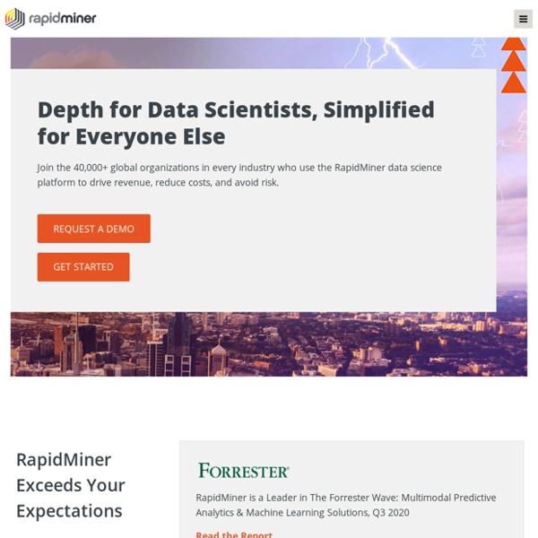 RapidMiner - #1 Open Source Predictive Analytics Platform