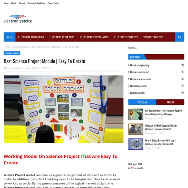 Best Science Project Module