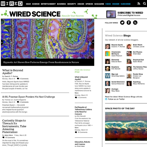Science - News for Your Neurons