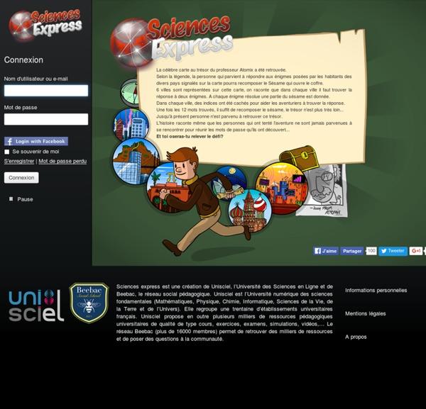 Sciences Express: Le jeu