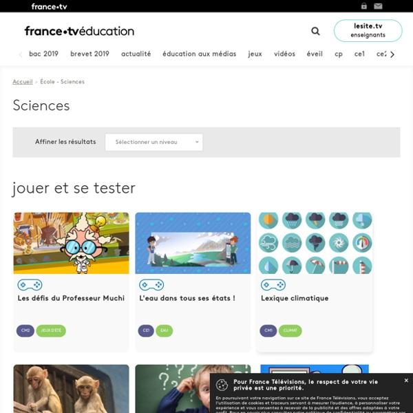 Apprendre : Sciences