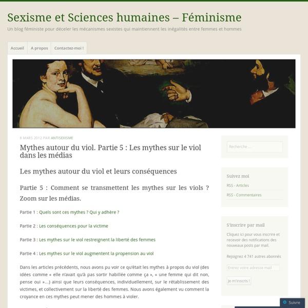 [French] Partie 5 : Les mythes sur le viol dans les médias