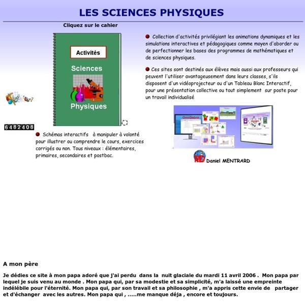 Sciences physiques avec Geogebra(Daniel Mentrard)