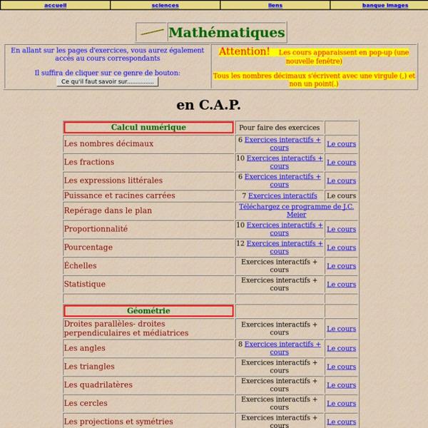 Maths et sciences en Lycée professionnel et collège