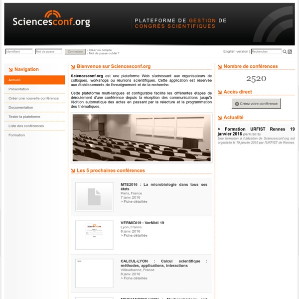 SciencesConf.org