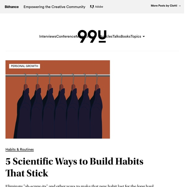 5 Scientific Ways to Build Habits That Stick