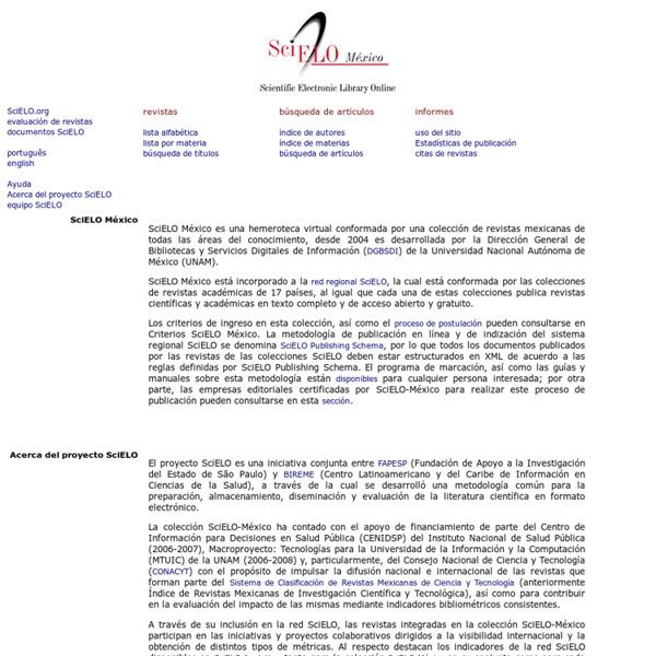 SciELO - Scientific Electronic Library Online