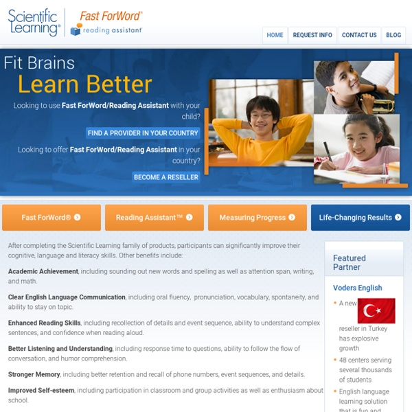 Scientific Learning - Fast ForWord Reading Program