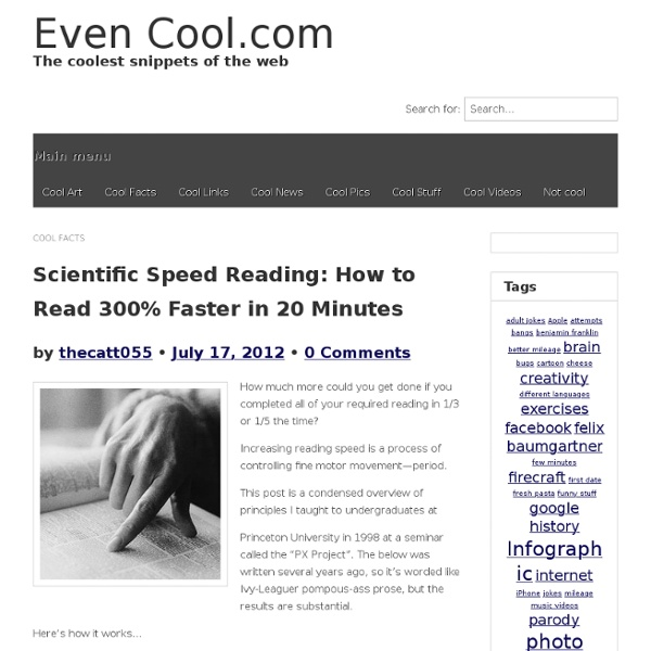 Scientific Speed Reading: How to Read 300% Faster in 20 Minutes