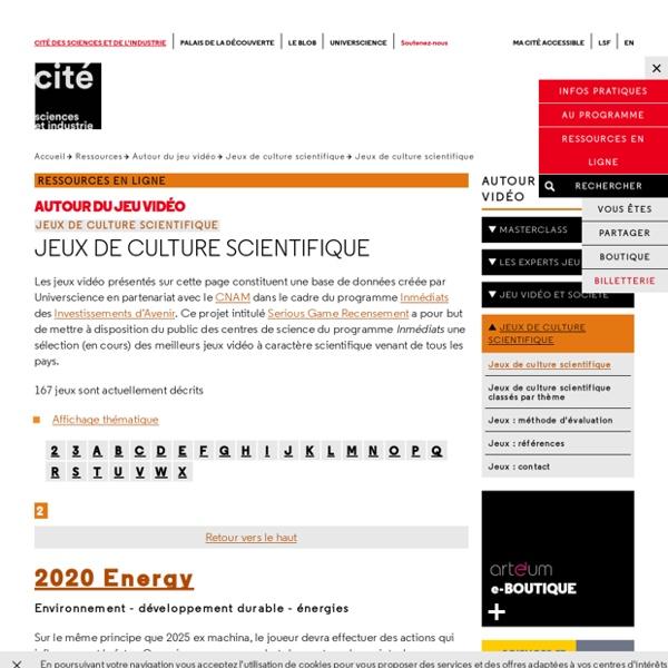 Jeux de culture scientifique - Jeux de culture scientifique