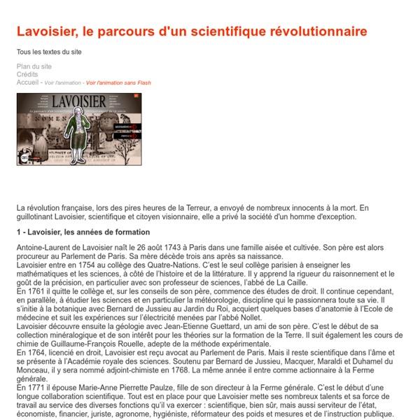 Lavoisier, le parcours d'un scientifique révolutionnaire [ressource]