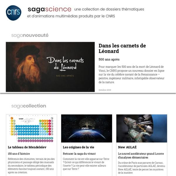 Sagascience, collection de dossiers thématiques en ligne