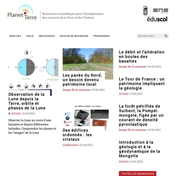Ressources en sciences de la Terre, géologie — Planet-Terre