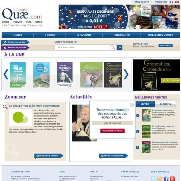 Editions Quae - livres et ebooks scientifiques de référence