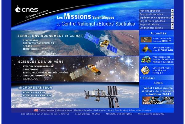 Les Missions Scientifiques du Centre National d'Etudes Spatiales
