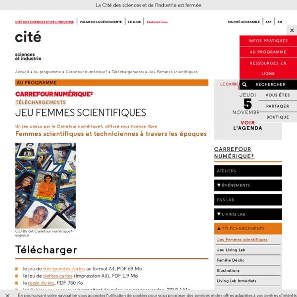 Jeu Femmes scientifiques - Téléchargements