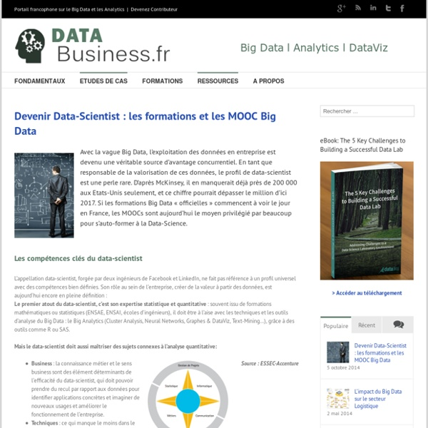 Devenir Data-Scientist : les formations et les MOOC Big Data l Data-Business.fr