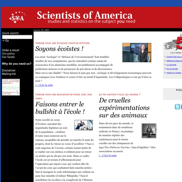 Scientists of America : Science of anyone - Web edition