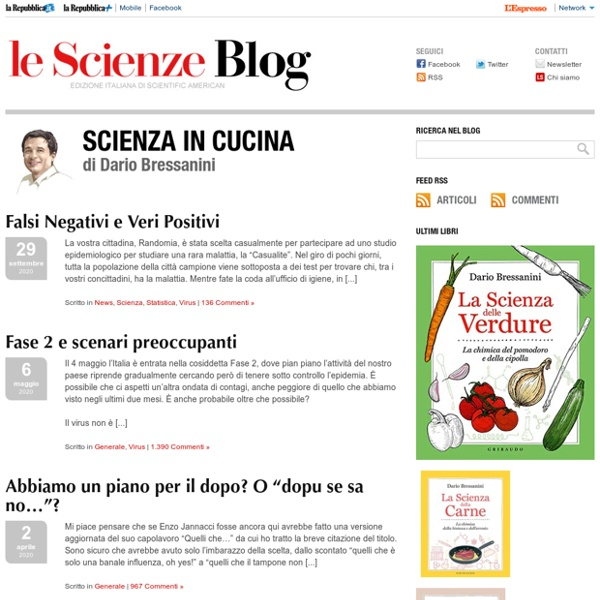 Scienza in cucina - Blog - L'espresso