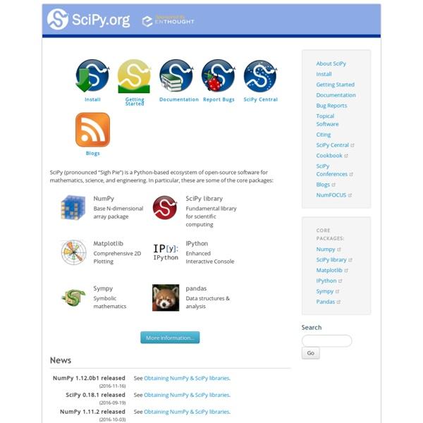 SciPy.org — SciPy.org
