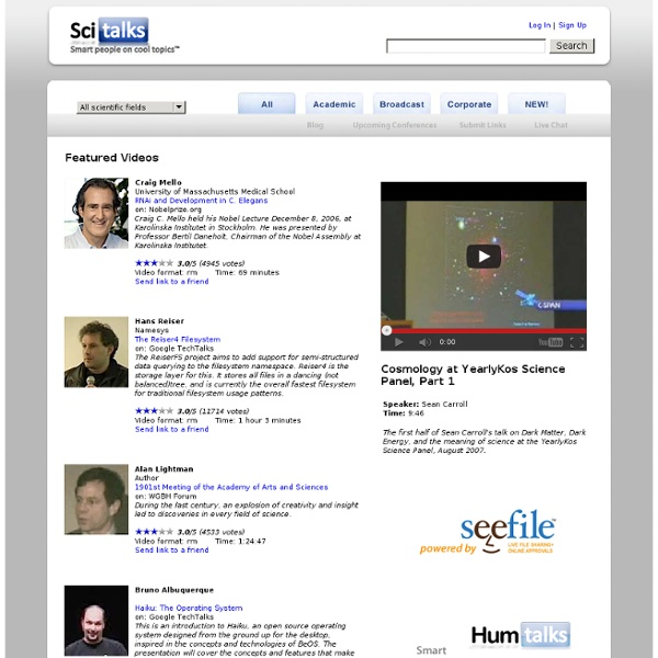 Scitalks: Smart people on cool topics