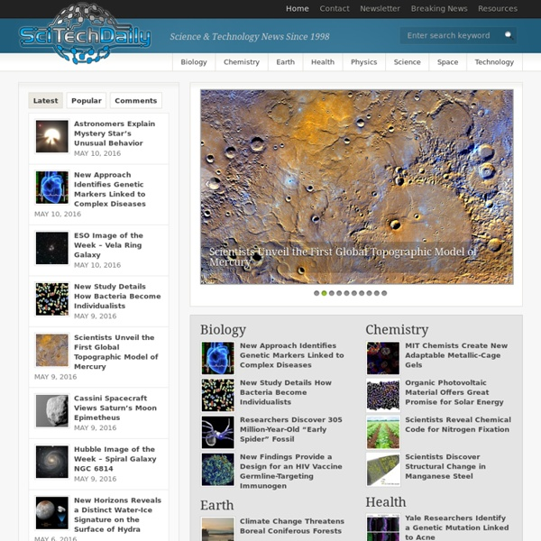 SciTech Daily - Science, Space and Technology News 2015